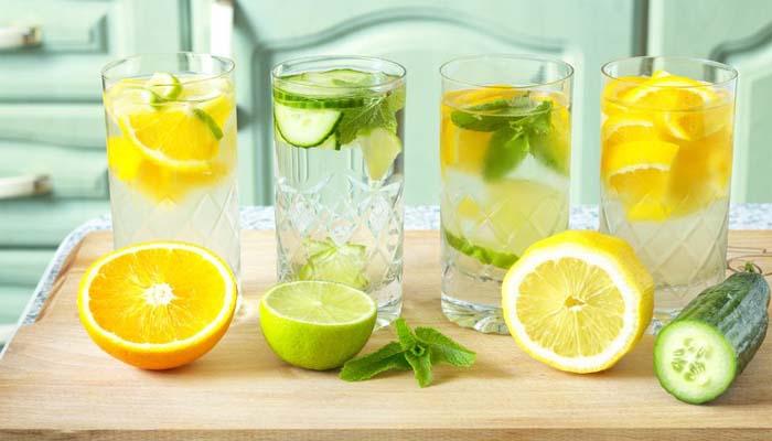 citron- och gurkvatten