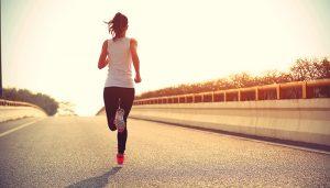 löpande tjej
